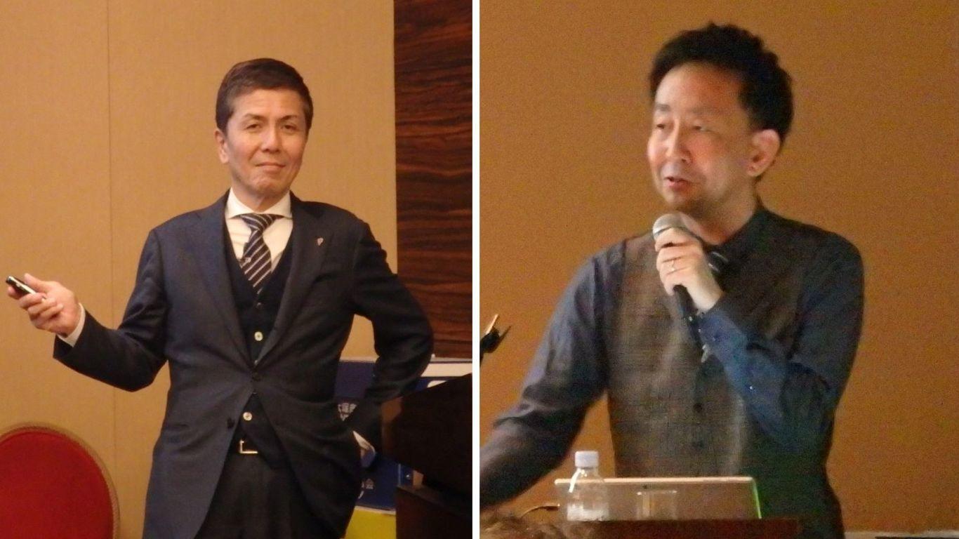 代表取締役社長 上野泰生(左)、取締役CMO 尾関将(右)